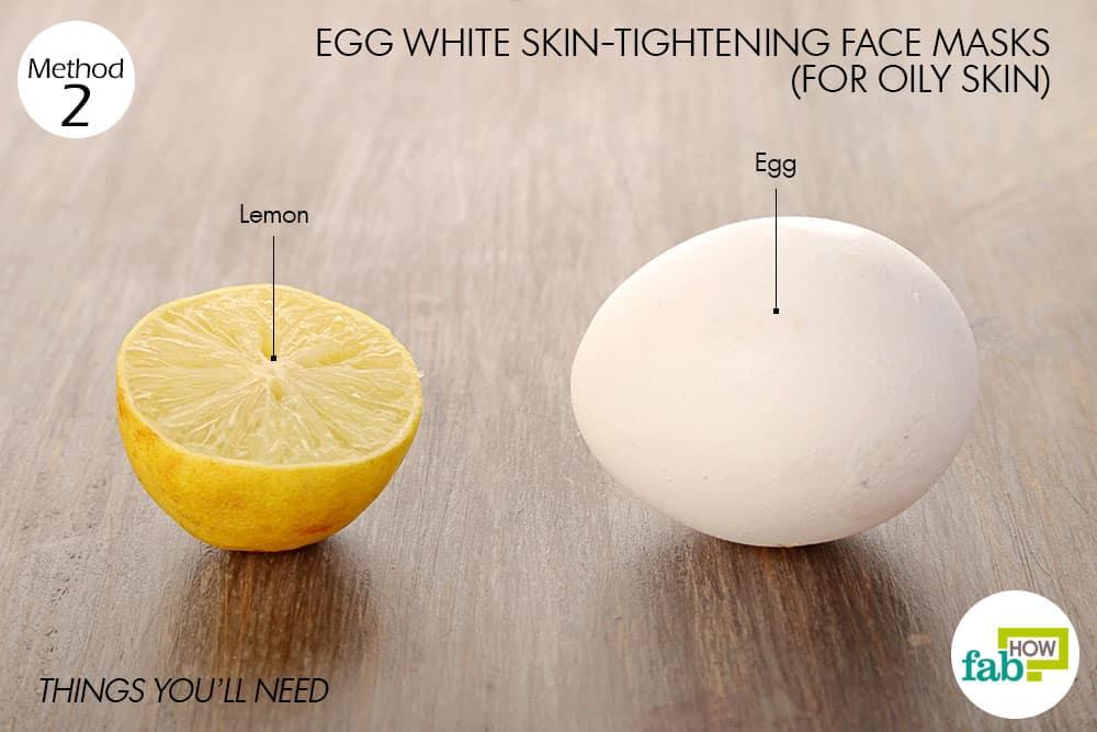तैलीय त्वचा के लिए अंडे के सफेद भाग से फेस पैक बनाने के लिए आवश्यक सामग्री