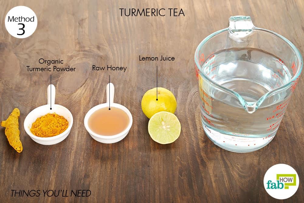 हल्दी की चाय बनाने के लिए आवश्यक सामग्री