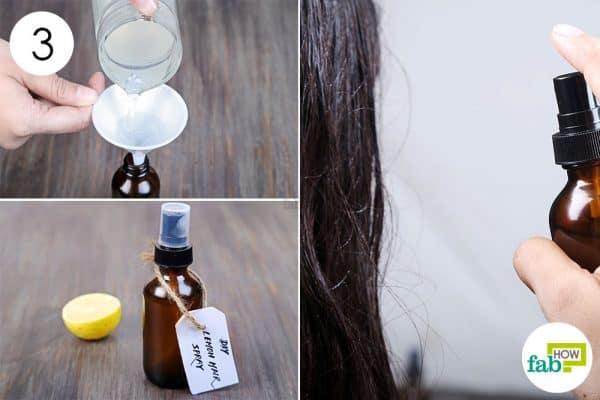 गहरे रंग कि बोतल में मिश्रण को भर लें