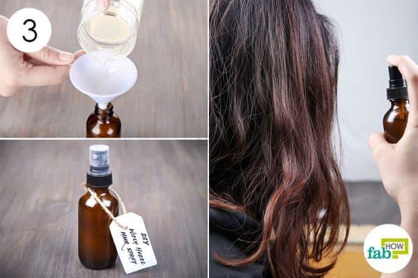 मिश्रण को गहरे रंग की बोतल में भर लें