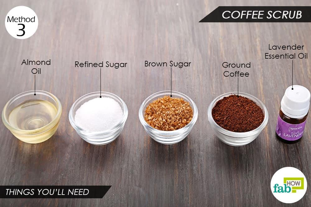 कॉफ़ी स्क्रब बनाने के लिए आवश्यक सामग्री