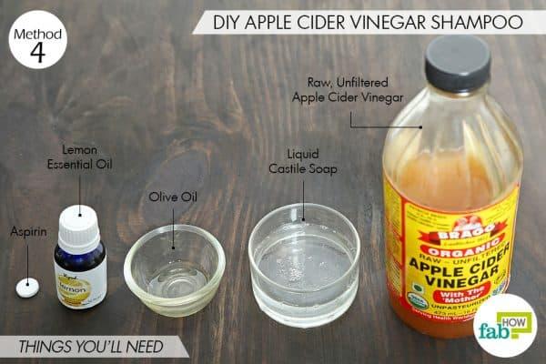सेब के सिरके का शैम्पू बनाने के लिए आवश्यक सामग्री