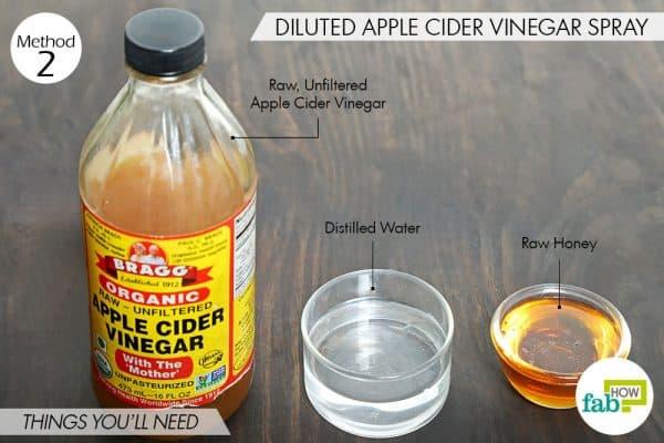 सेब के सिरके का स्प्रे बनाने के लिए आवश्यक सामग्री