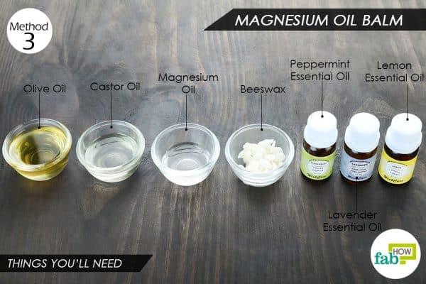 विधि 3: मैग्नीशियम ऑयल बाम बनाने की आवश्यक सामग्री
