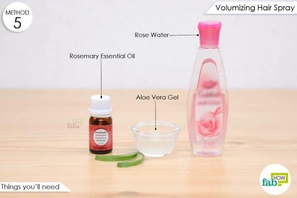 गुलाब जल से हेयर स्प्रे बनाने के लिए आवश्यक सामग्री